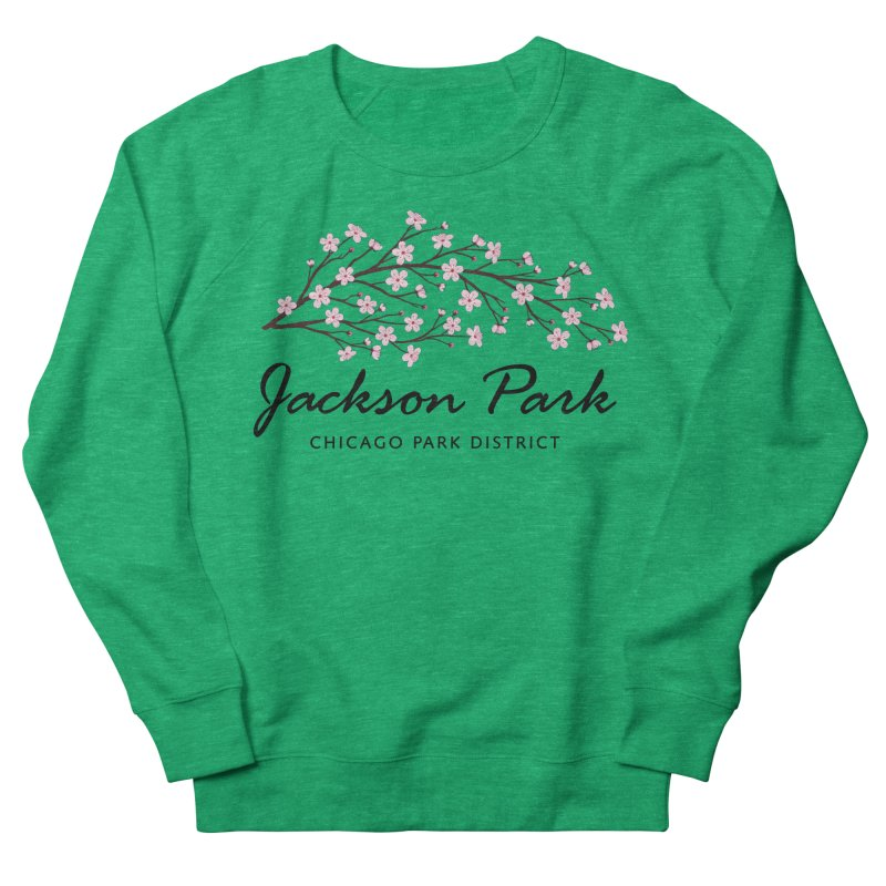Jackson Park Cherry Blossoms Women's Sweatshirt by chicago park district's Artist Shop