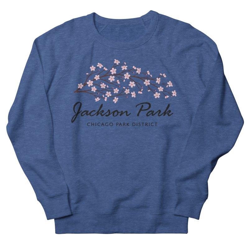 Jackson Park Cherry Blossoms Men's French Terry Sweatshirt by chicago park district's Artist Shop