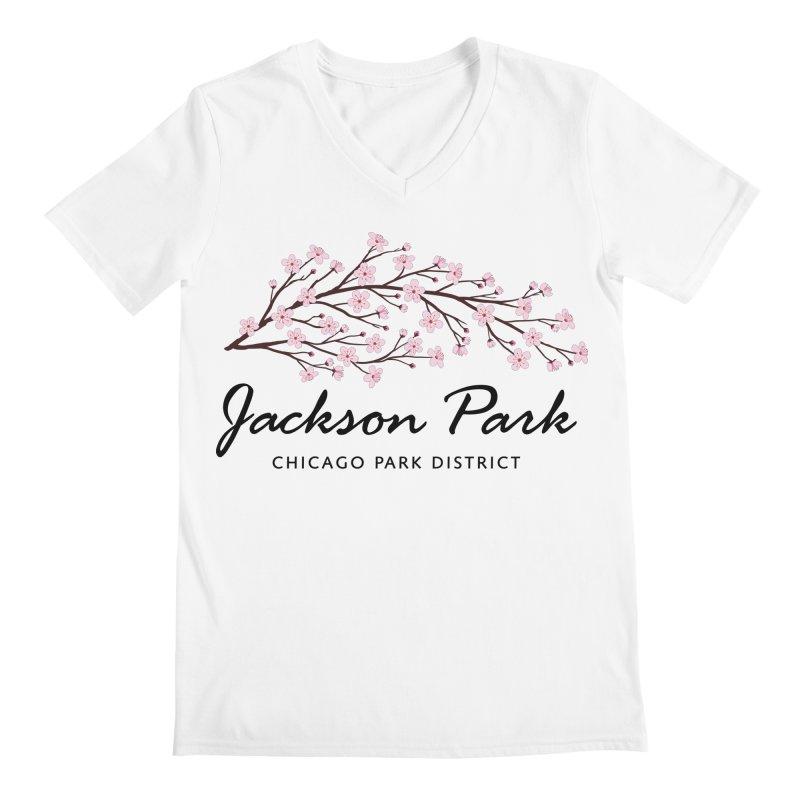 Jackson Park Cherry Blossoms Men's V-Neck by chicago park district's Artist Shop
