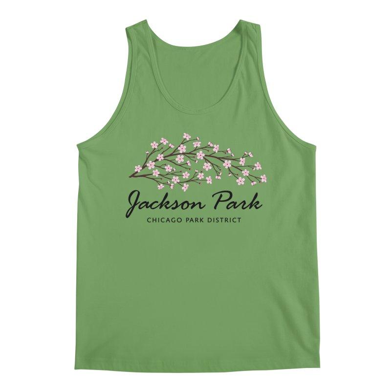 Jackson Park Cherry Blossoms Men's Tank by chicago park district's Artist Shop