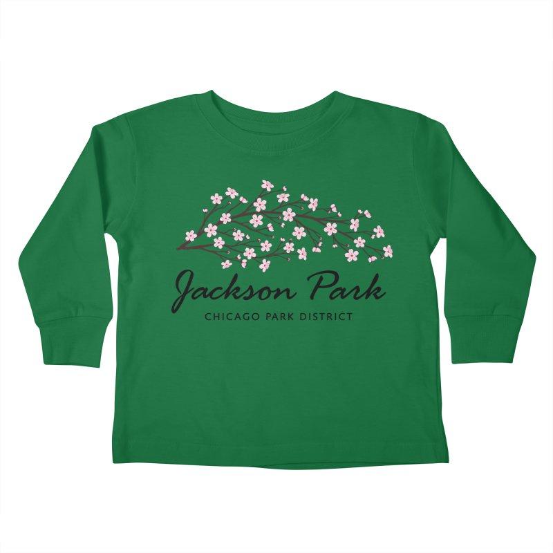 Jackson Park Cherry Blossoms Kids Toddler Longsleeve T-Shirt by chicago park district's Artist Shop