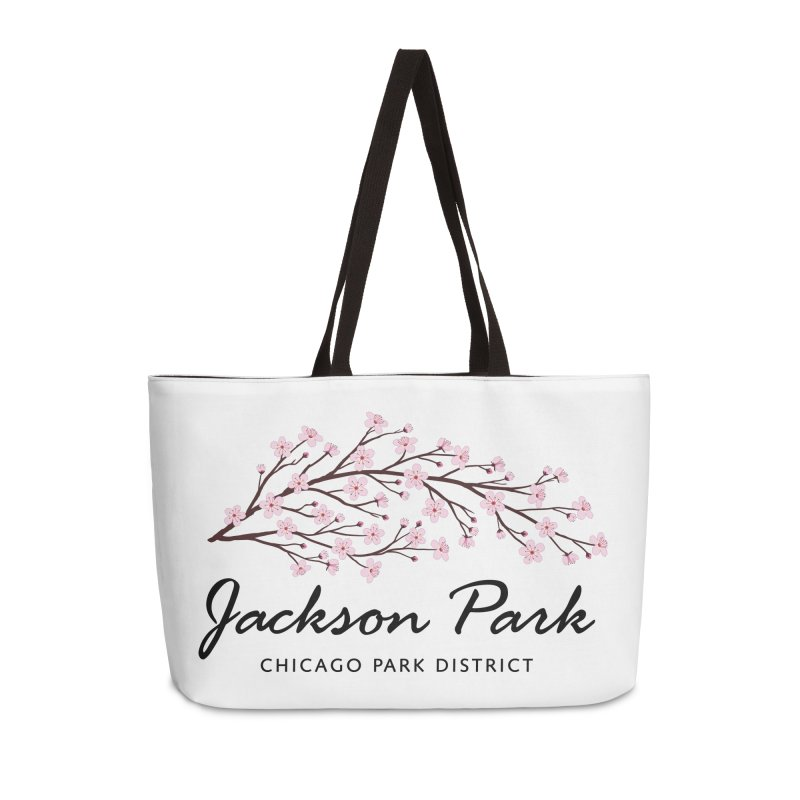 Jackson Park Cherry Blossoms Accessories Weekender Bag Bag by chicago park district's Artist Shop