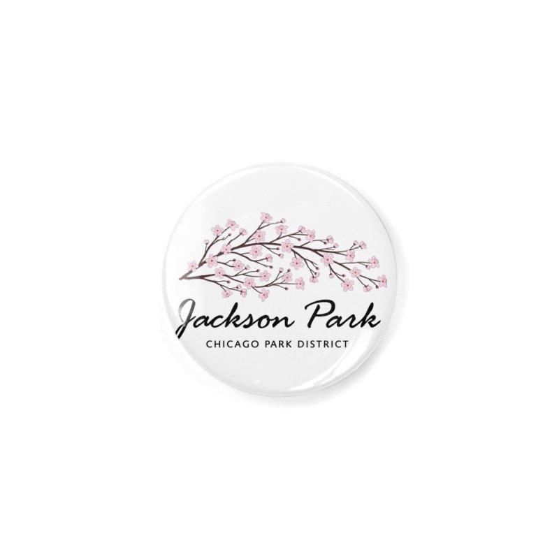 Jackson Park Cherry Blossoms Accessories Button by chicago park district's Artist Shop