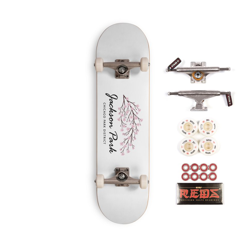 Jackson Park Cherry Blossoms Accessories Complete - Pro Skateboard by chicago park district's Artist Shop