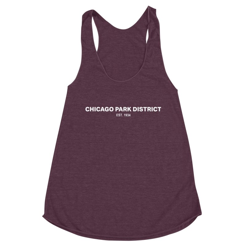 Chicago Park District Established Women's Racerback Triblend Tank by chicago park district's Artist Shop