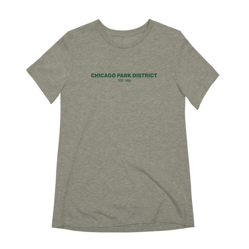 Chicago Park District Established - Green Women's Extra Soft T-Shirt by chicago park district's Artist Shop