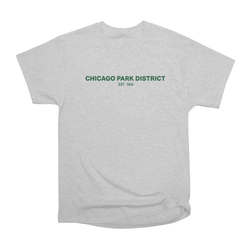Chicago Park District Established - Green Men's T-Shirt by chicago park district's Artist Shop