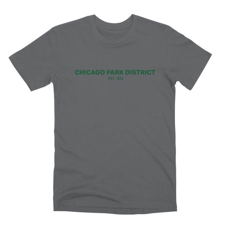 Chicago Park District Established - Green Men's Premium T-Shirt by chicago park district's Artist Shop