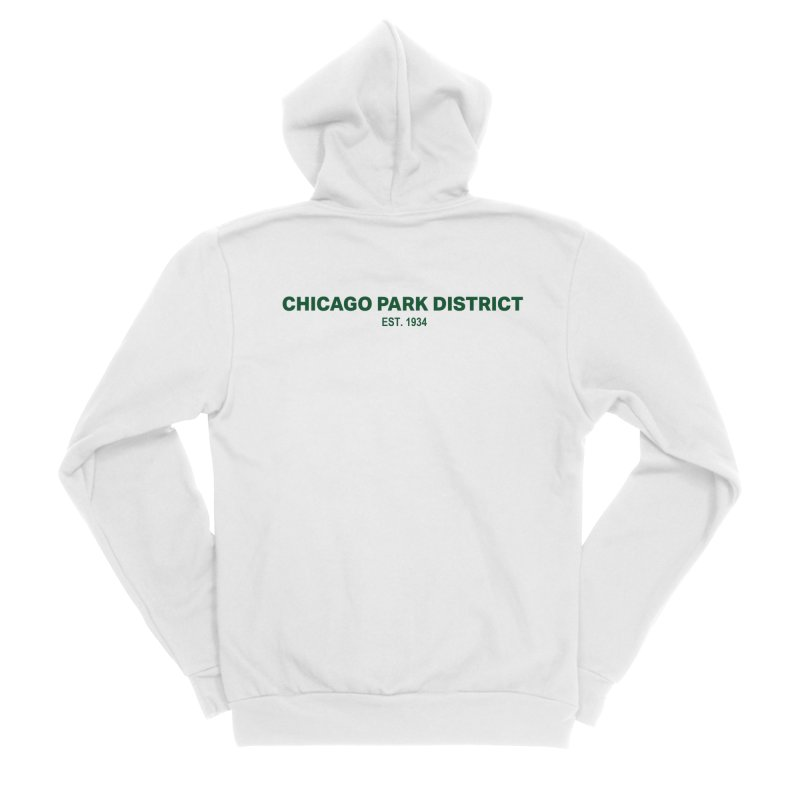 Chicago Park District Established - Green Women's Sponge Fleece Zip-Up Hoody by chicago park district's Artist Shop