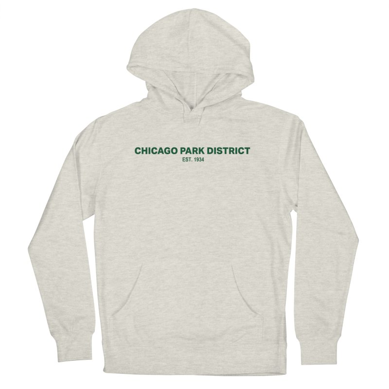 Chicago Park District Established - Green Men's French Terry Pullover Hoody by chicago park district's Artist Shop