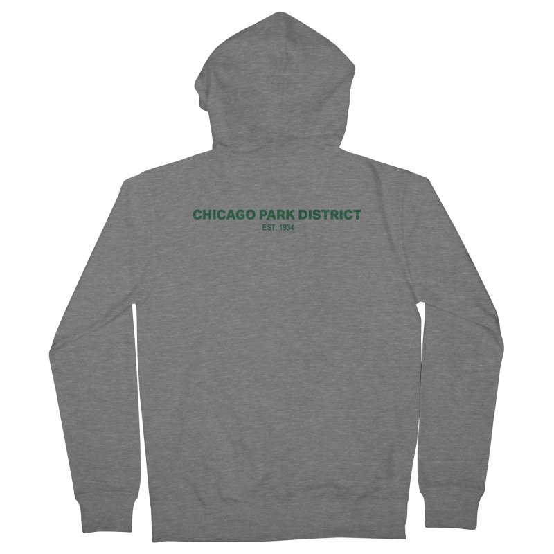 Chicago Park District Established - Green Women's Zip-Up Hoody by chicago park district's Artist Shop