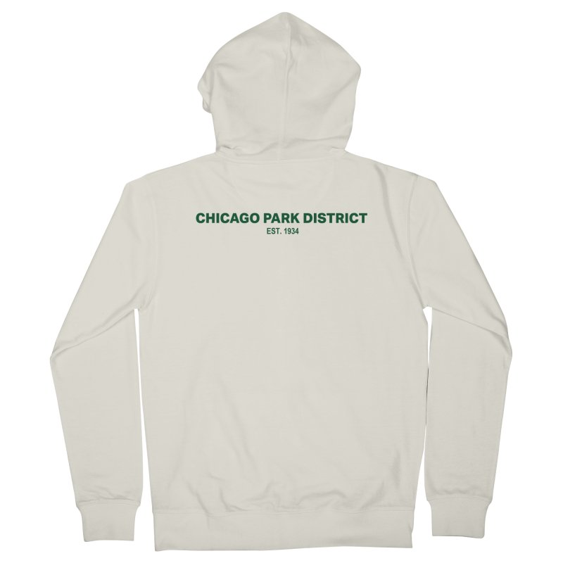 Chicago Park District Established - Green Men's French Terry Zip-Up Hoody by chicago park district's Artist Shop
