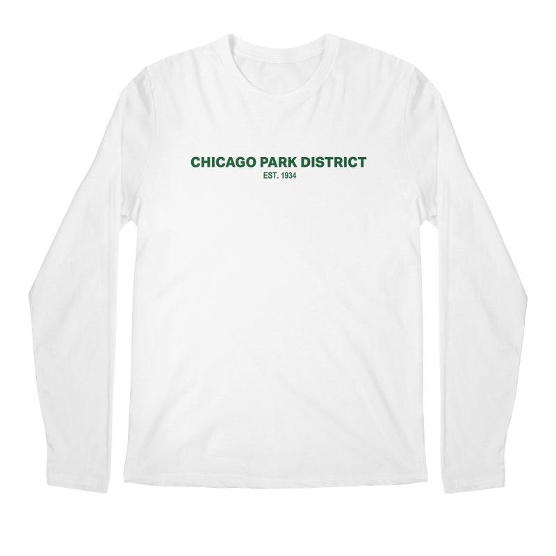 Chicago Park District Established - Green Men's Regular Longsleeve T-Shirt by chicago park district's Artist Shop