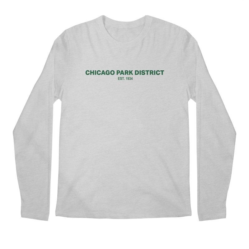 Chicago Park District Established - Green Men's Longsleeve T-Shirt by chicago park district's Artist Shop