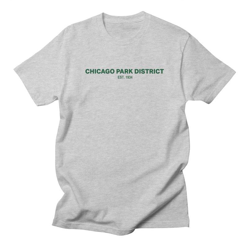 Chicago Park District Established - Green Men's Regular T-Shirt by chicago park district's Artist Shop