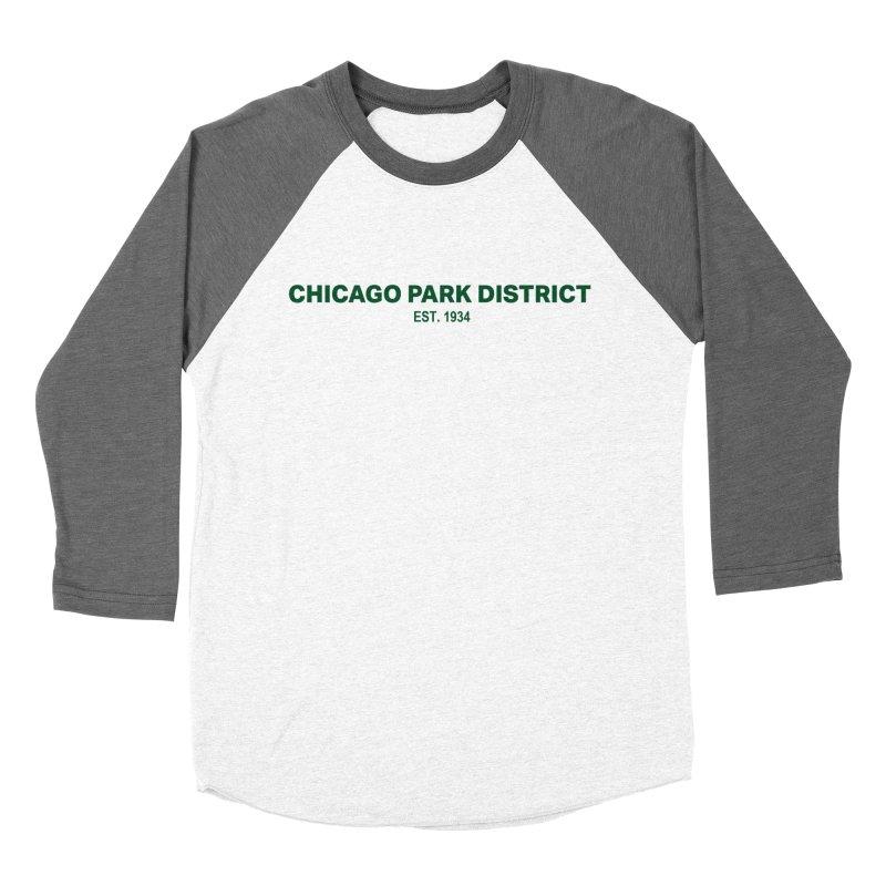 Chicago Park District Established - Green Men's Baseball Triblend Longsleeve T-Shirt by chicago park district's Artist Shop