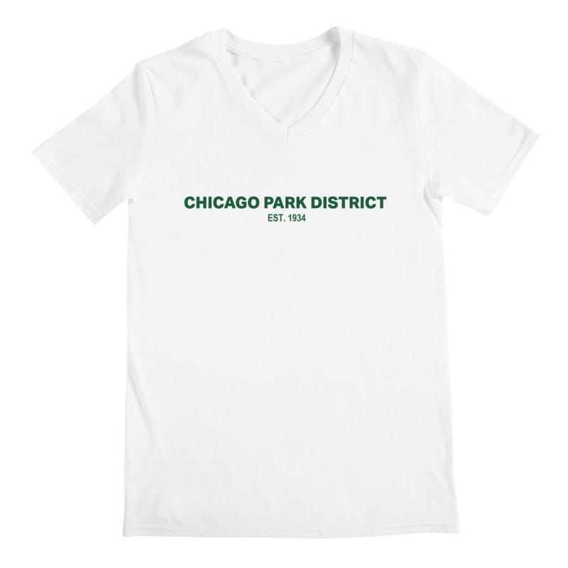 Chicago Park District Established - Green Men's V-Neck by chicago park district's Artist Shop
