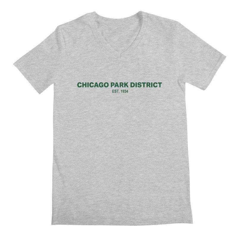 Chicago Park District Established - Green Men's Regular V-Neck by chicago park district's Artist Shop