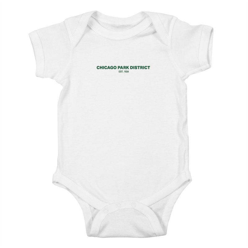 Chicago Park District Established - Green Kids Baby Bodysuit by chicago park district's Artist Shop