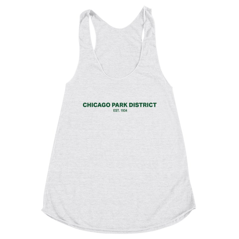 Chicago Park District Established - Green Women's Racerback Triblend Tank by chicago park district's Artist Shop