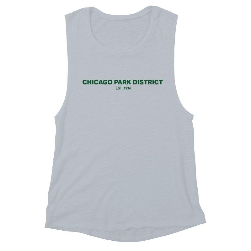 Chicago Park District Established - Green Women's Muscle Tank by chicago park district's Artist Shop