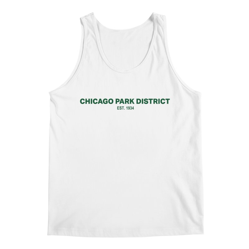 Chicago Park District Established - Green Men's Regular Tank by chicago park district's Artist Shop