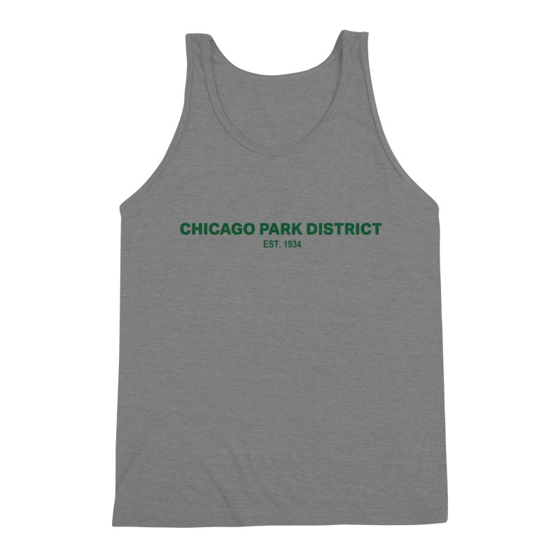 Chicago Park District Established - Green Men's Tank by chicago park district's Artist Shop