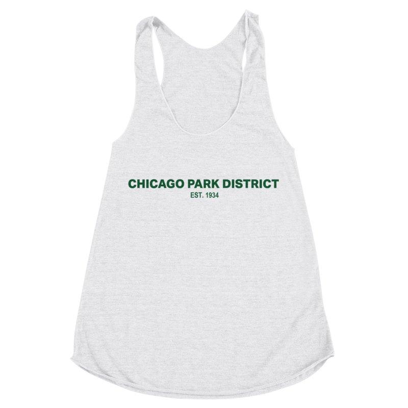 Chicago Park District Established - Green Women's Racerback Triblend Tank by chicago park district's Artist Shop