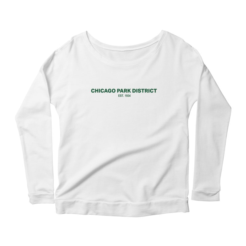 Chicago Park District Established - Green Women's Scoop Neck Longsleeve T-Shirt by chicago park district's Artist Shop