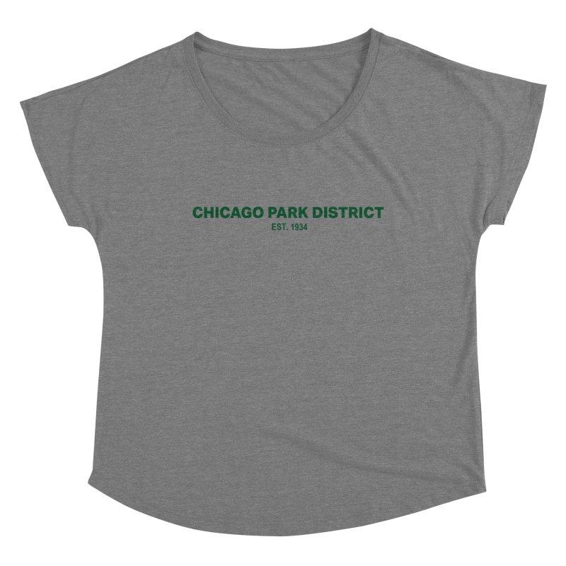 Chicago Park District Established - Green Women's Scoop Neck by chicago park district's Artist Shop
