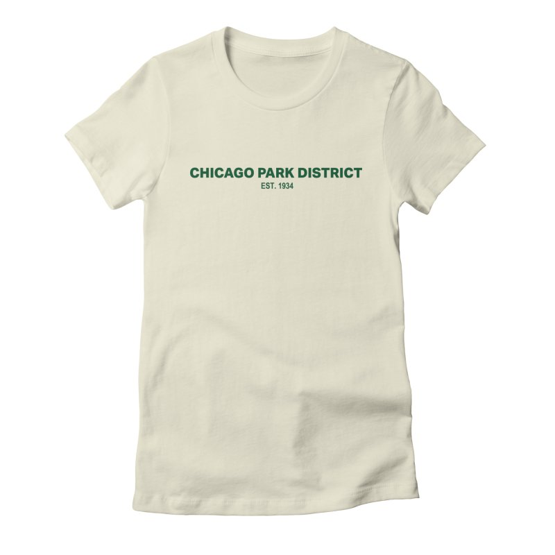 Chicago Park District Established - Green Women's Fitted T-Shirt by chicago park district's Artist Shop