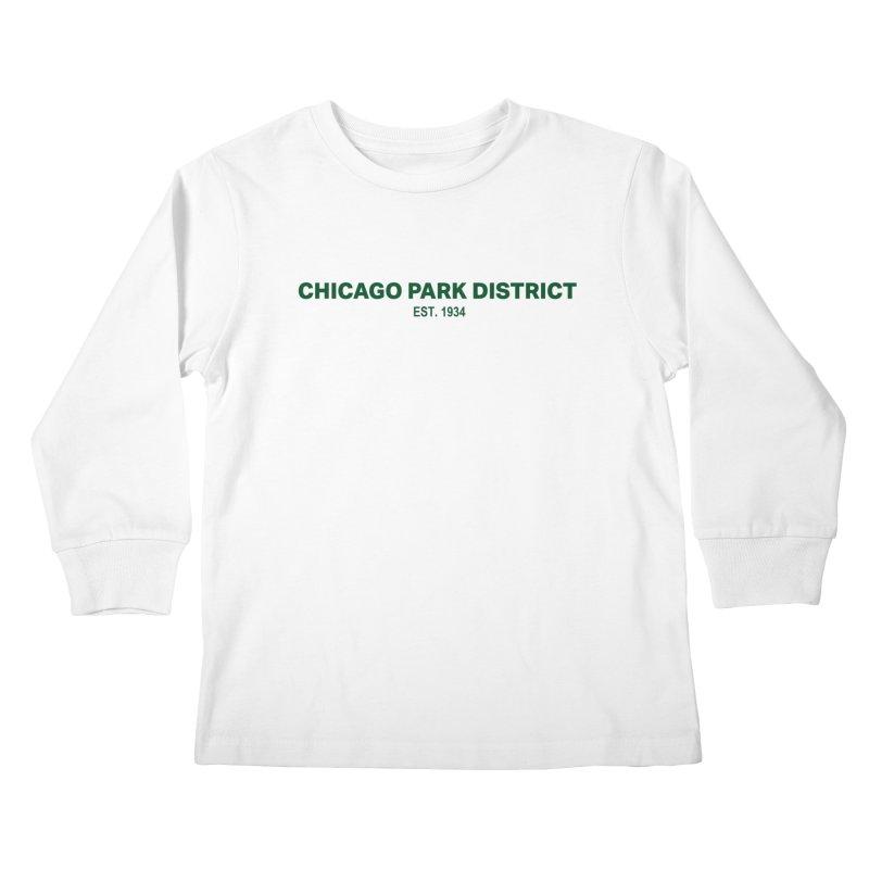 Chicago Park District Established - Green Kids Longsleeve T-Shirt by chicago park district's Artist Shop
