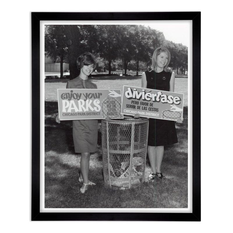 Vintage: 1966 Anti-litter Campaign Home Framed Fine Art Print by chicago park district's Artist Shop