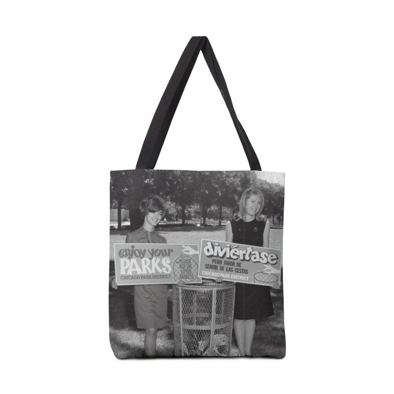 Vintage: 1966 Anti-litter Campaign Accessories Tote Bag Bag by chicago park district's Artist Shop