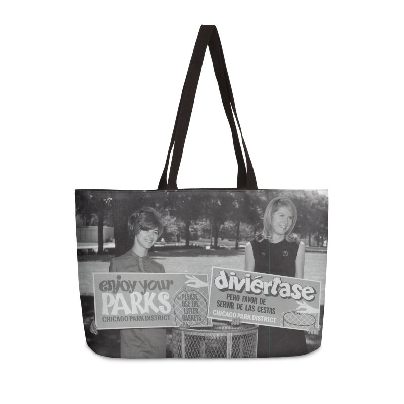 Vintage: 1966 Anti-litter Campaign Accessories Weekender Bag Bag by chicago park district's Artist Shop