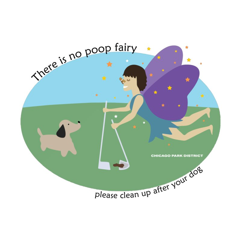 There Is No Poop Fairy Men's Longsleeve T-Shirt by chicago park district's Artist Shop
