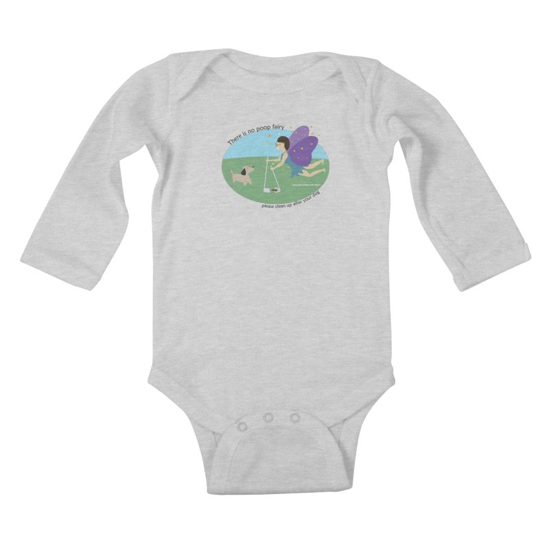 There Is No Poop Fairy Kids Baby Longsleeve Bodysuit by chicago park district's Artist Shop