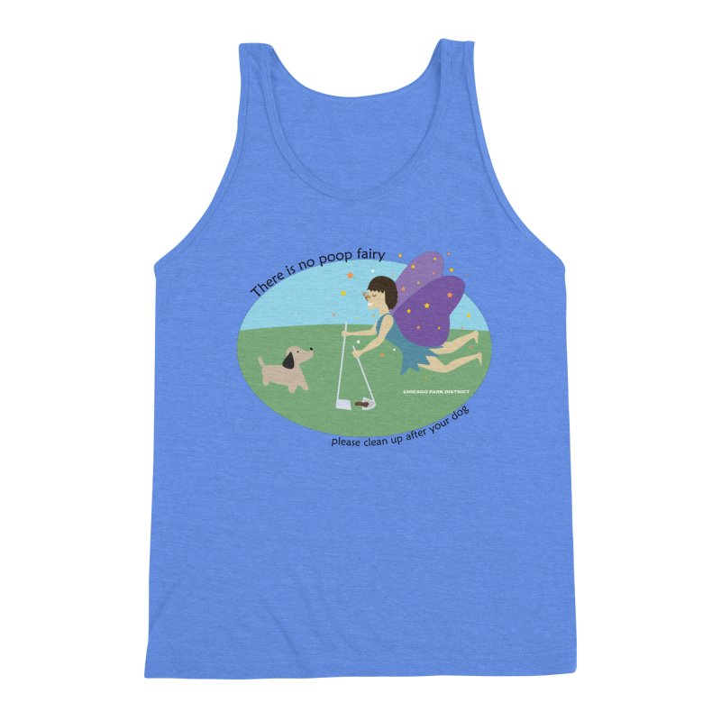 There Is No Poop Fairy Men's Triblend Tank by chicago park district's Artist Shop