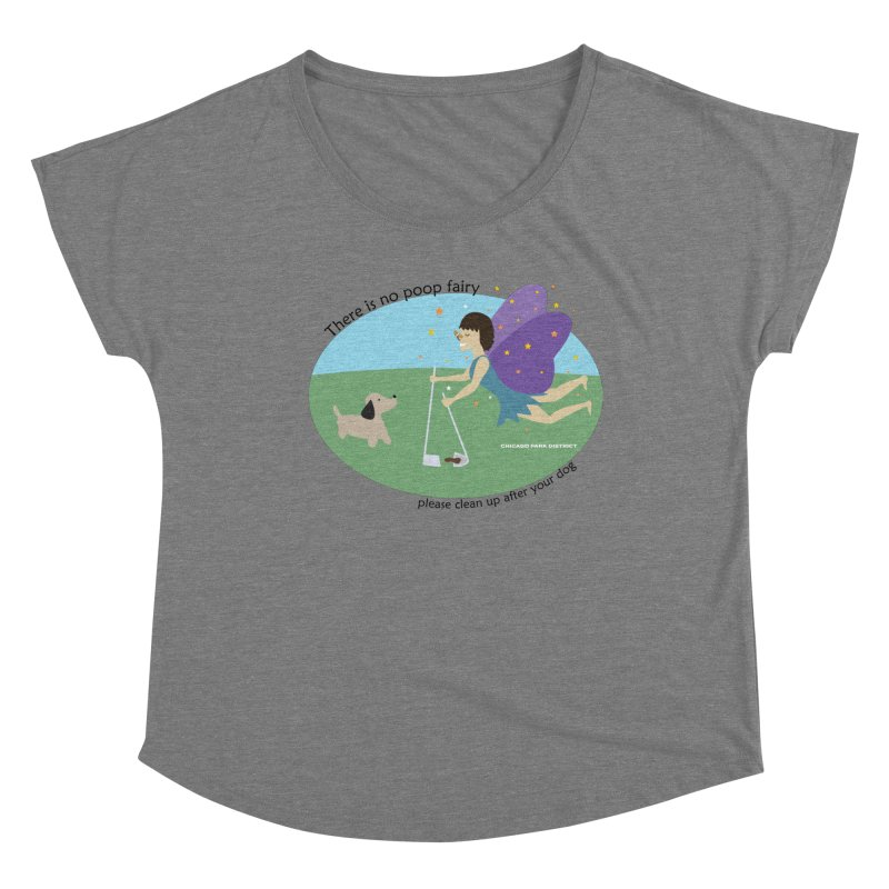 There Is No Poop Fairy Women's Scoop Neck by chicago park district's Artist Shop