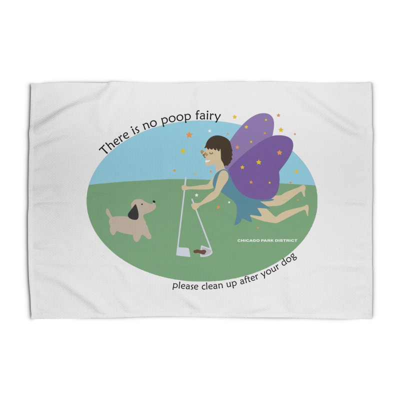 There Is No Poop Fairy Home Rug by chicago park district's Artist Shop