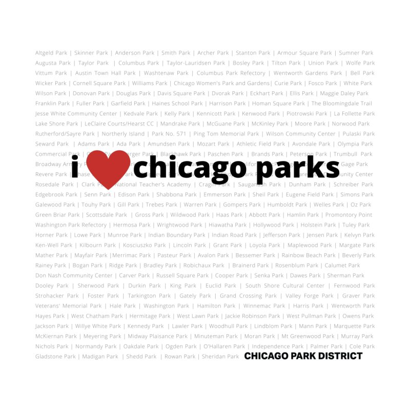 I Heart Chicago Parks Women's Sweatshirt by chicago park district's Artist Shop