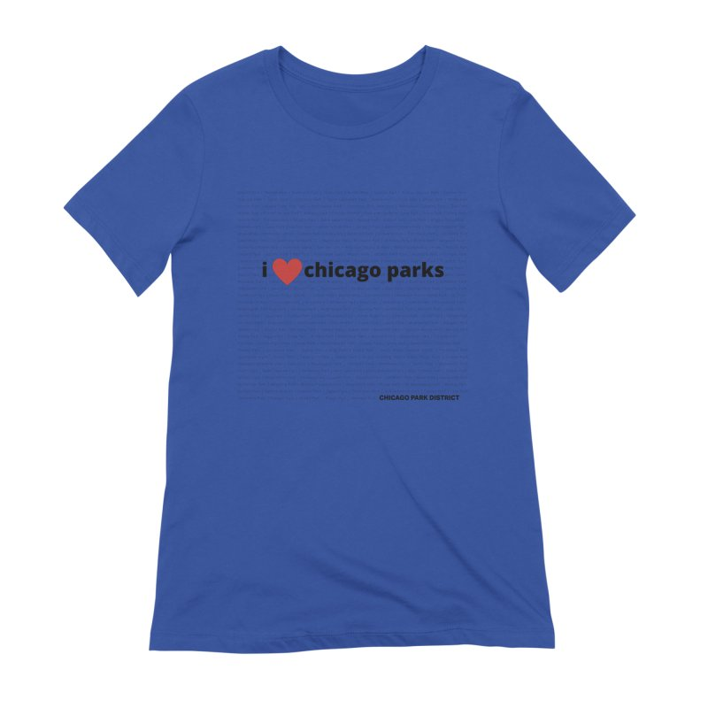 I Heart Chicago Parks Women's Extra Soft T-Shirt by chicago park district's Artist Shop