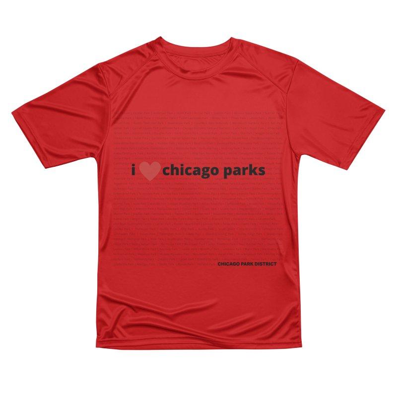 I Heart Chicago Parks Women's Performance Unisex T-Shirt by chicago park district's Artist Shop