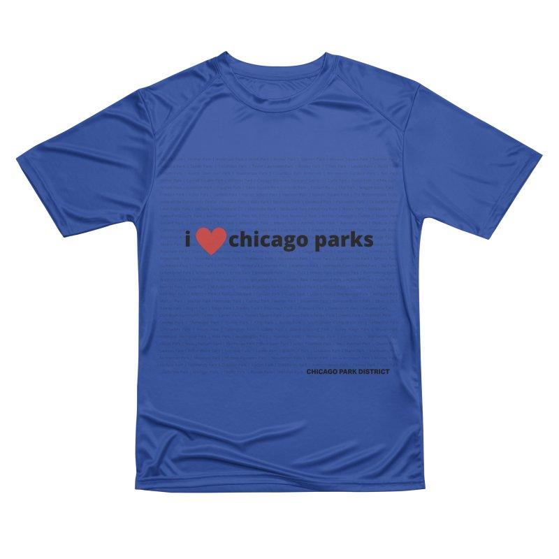 I Heart Chicago Parks Men's Performance T-Shirt by chicago park district's Artist Shop