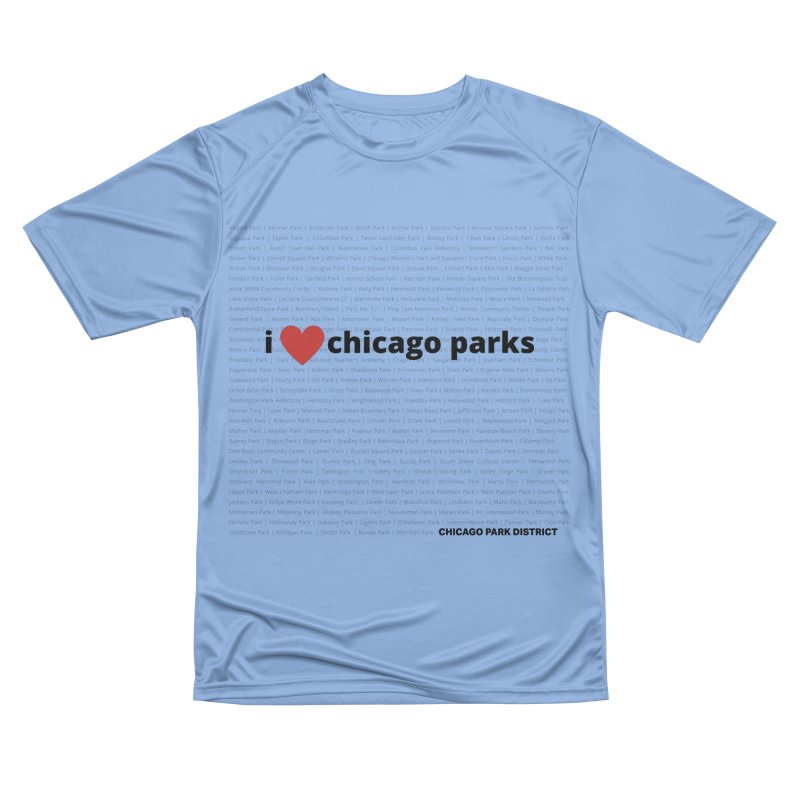 I Heart Chicago Parks Women's Performance Unisex T-Shirt by chicago park district's Artist Shop