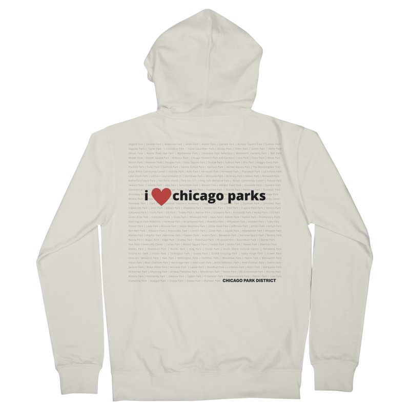I Heart Chicago Parks Women's French Terry Zip-Up Hoody by chicago park district's Artist Shop