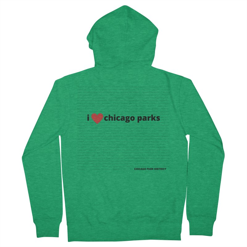 I Heart Chicago Parks Men's French Terry Zip-Up Hoody by chicago park district's Artist Shop