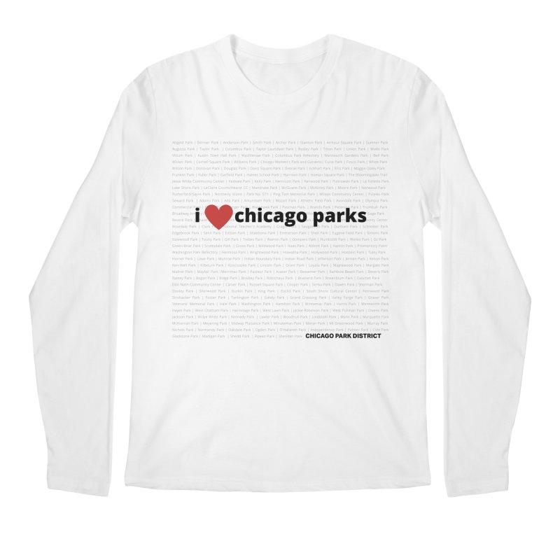 I Heart Chicago Parks Men's Regular Longsleeve T-Shirt by chicago park district's Artist Shop