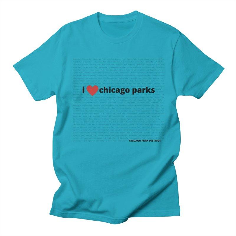 I Heart Chicago Parks Men's Regular T-Shirt by chicago park district's Artist Shop