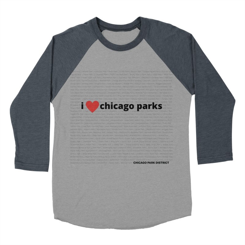 I Heart Chicago Parks Women's Baseball Triblend Longsleeve T-Shirt by chicago park district's Artist Shop